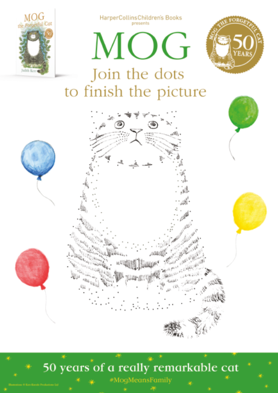 Mog the Forgetful Cat 50th Anniversary Join the Dots Activity Sheet